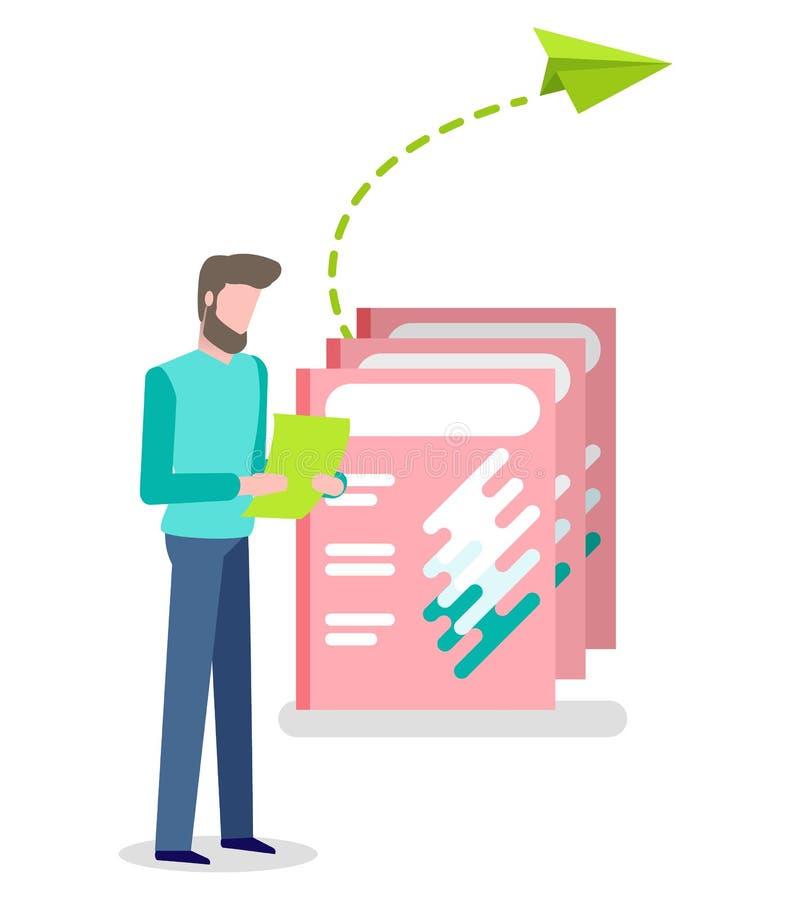 印刷品广告和人读的信息 向量例证