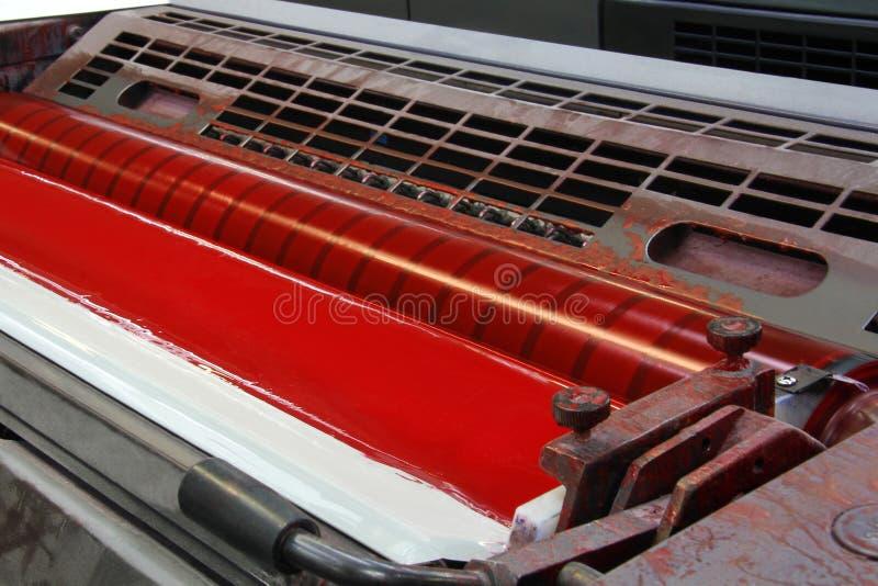 印刷品机器印刷机 免版税库存照片