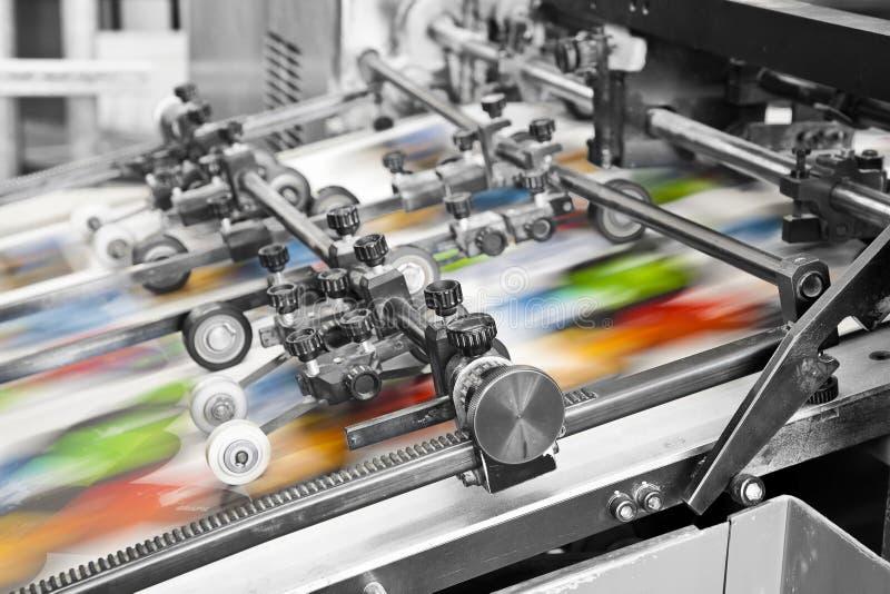 印刷品机器 图库摄影