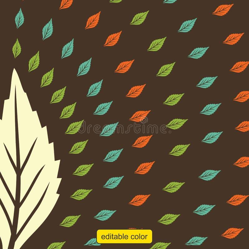 印刷品样式叶子颜色传染媒介 向量例证