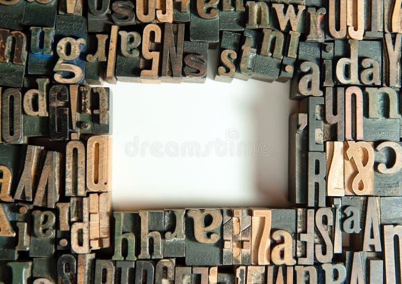 印刷品框架特写镜头 库存图片