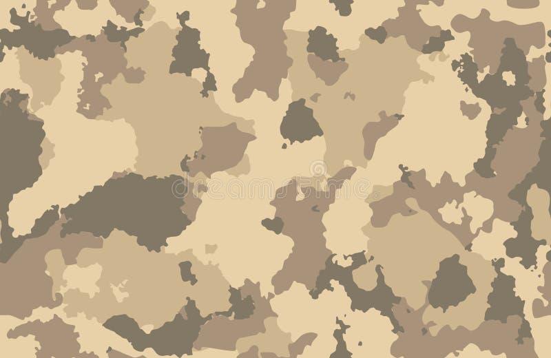 印刷品纹理军事伪装寻找棕色泥沙子的重复无缝的军队 向量例证