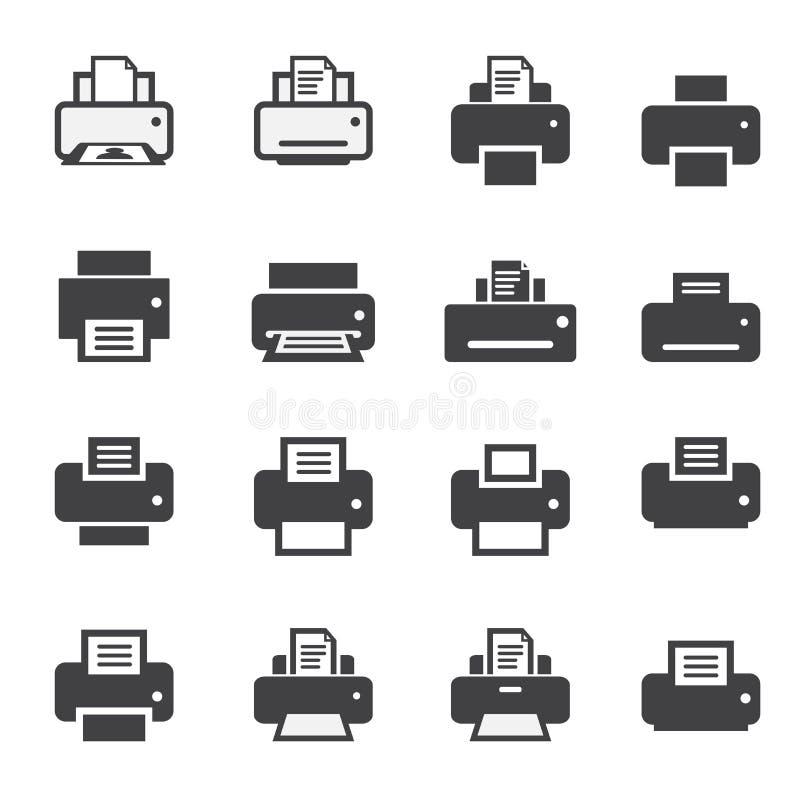 印刷品象集合 向量例证