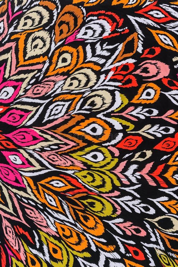 印刷品织品镶边孔雀羽毛纹理  免版税库存图片
