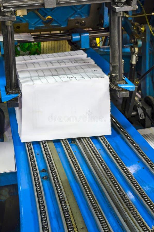 印刷店新闻打印-终点线 免版税库存照片