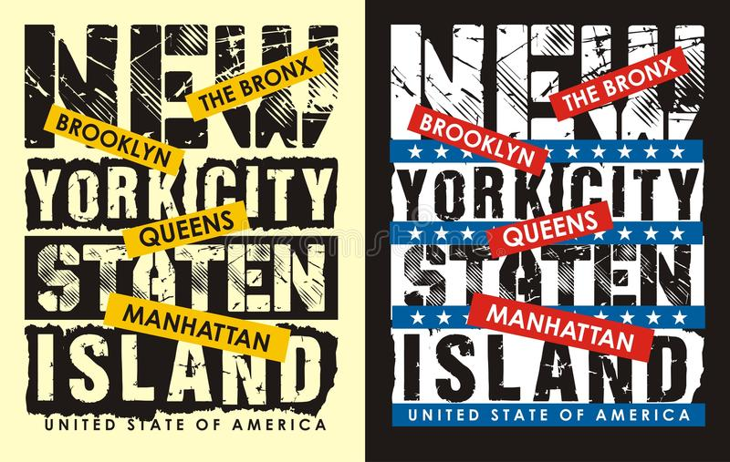 01 印刷术纽约, 向量例证