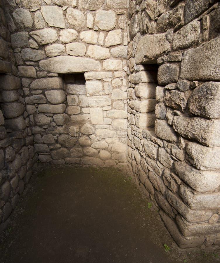 印加人墙壁 库存照片