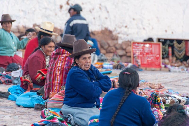 印加人市场在Chichero,秘鲁 免版税库存图片