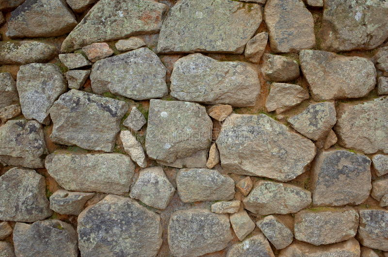 印加人砖砌的例子在马丘比丘里面的 库存照片