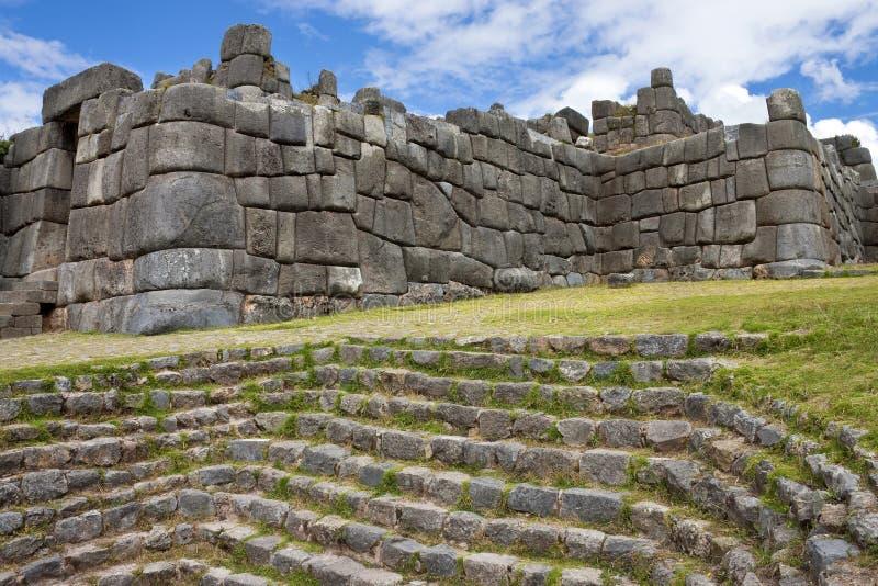 印加人秘鲁sacsayhuaman石制品 免版税图库摄影
