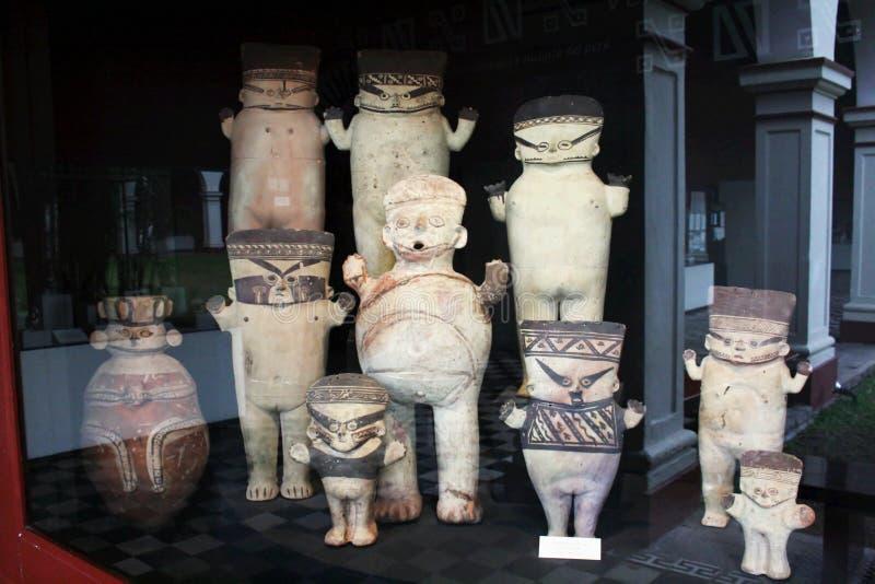 印加人雕象 免版税库存照片