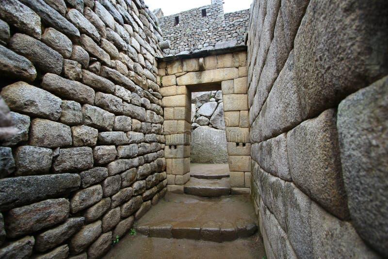 印加人machu秘鲁picchu废墟 库存图片