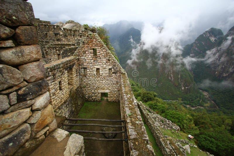 印加人machu秘鲁picchu废墟 免版税库存照片