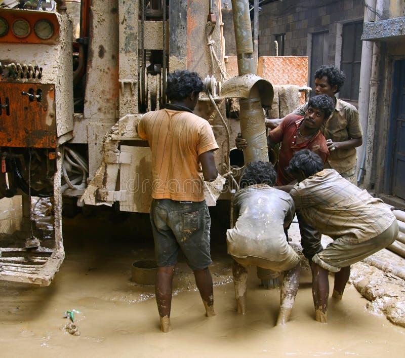 印地安人工作 库存图片