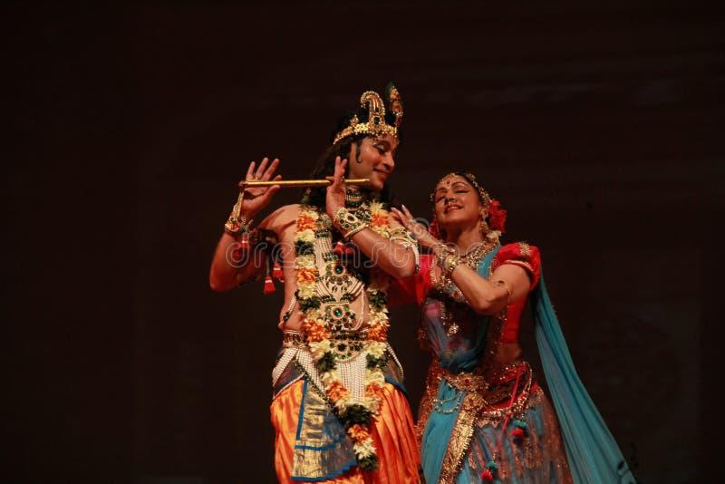 印地安古典舞蹈 免版税库存图片