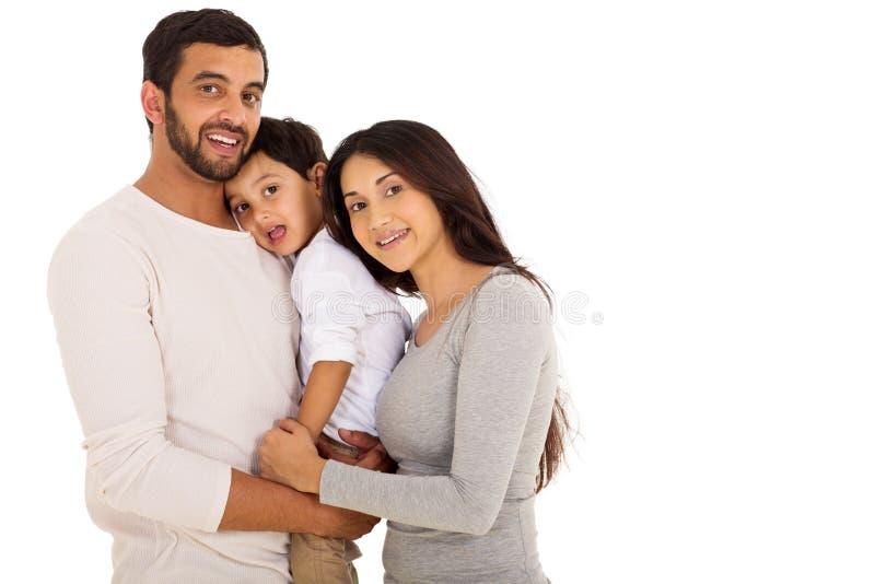 印地安夫妇儿子 免版税库存照片
