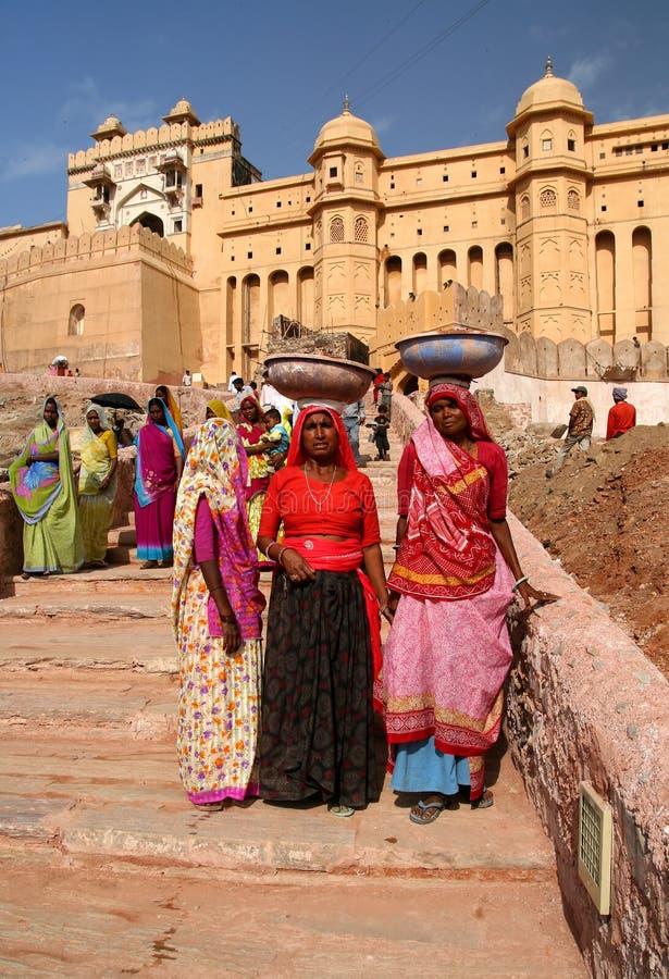 印地安妇女工作 图库摄影