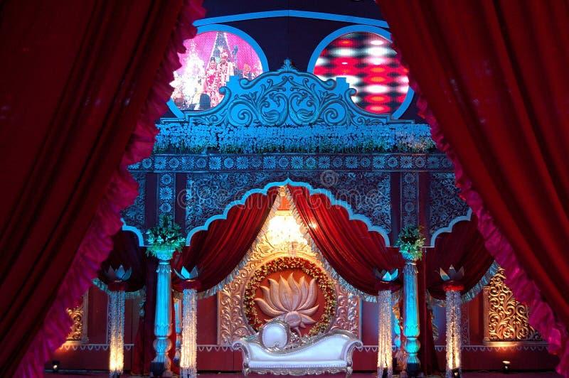 印地安婚礼阶段mandap 库存照片