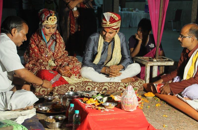 印地安婚姻仪式 库存图片