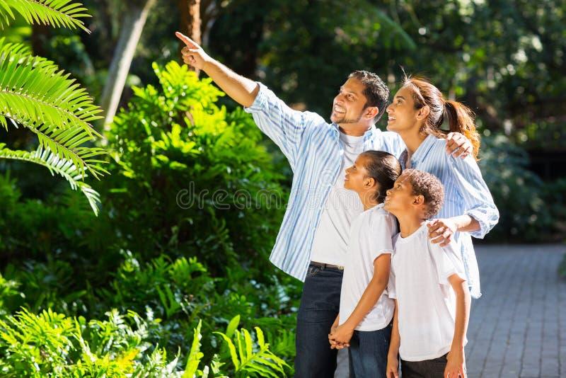 印地安家庭看 库存图片