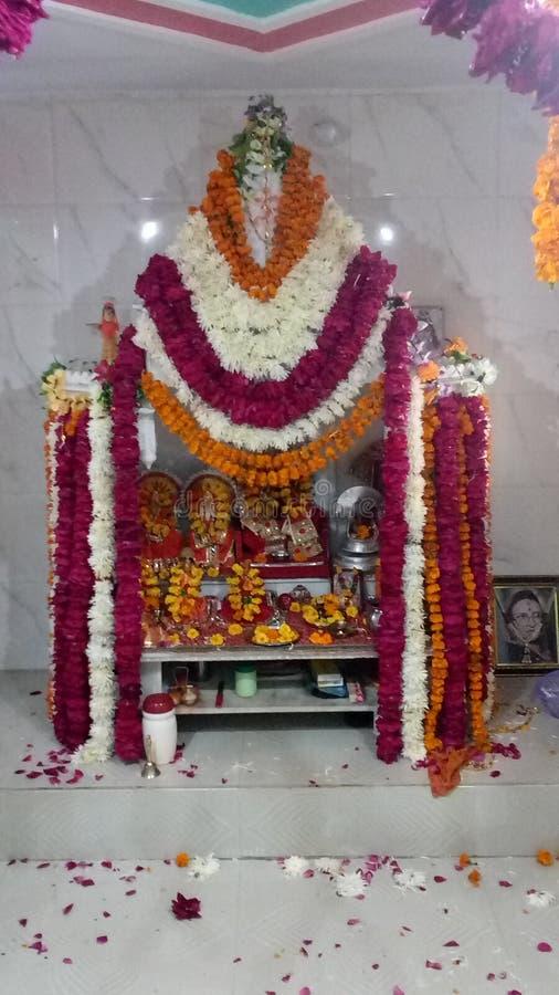 印地安寺庙花装饰 库存照片