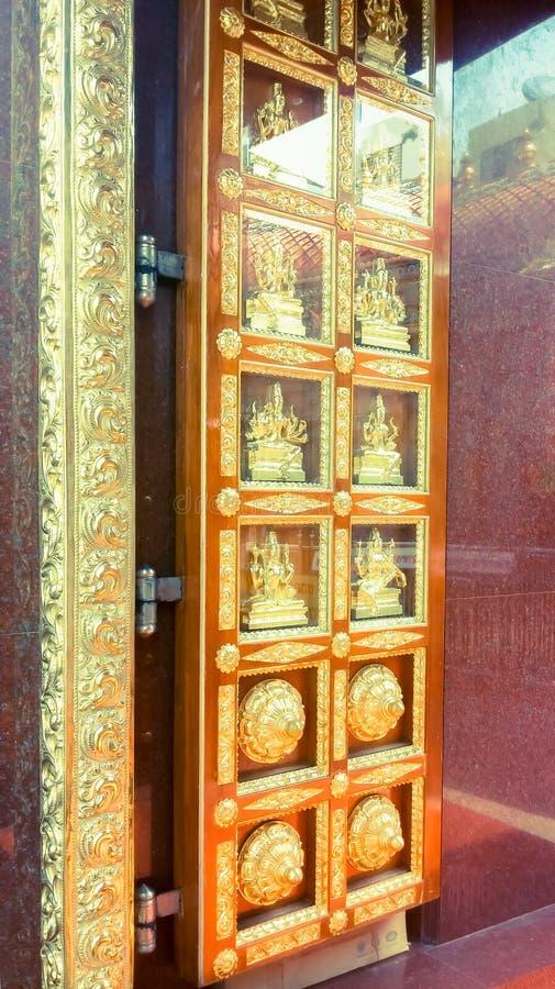 印地安寺庙门 图库摄影