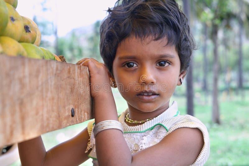 印地安小女孩 免版税库存照片