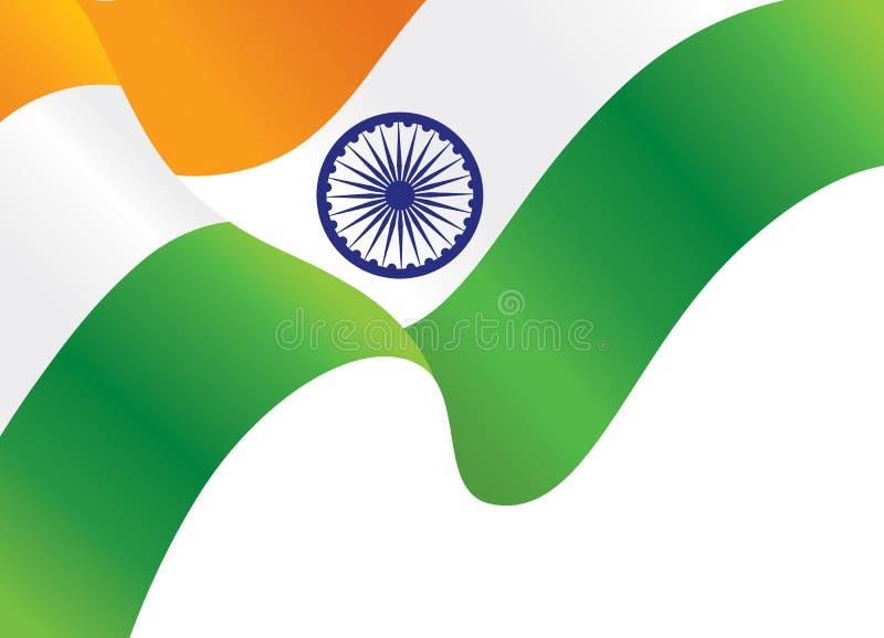 印地安挥动的旗子背景 向量例证