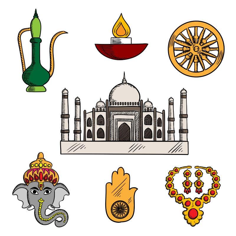 印地安文化和宗教象 皇族释放例证