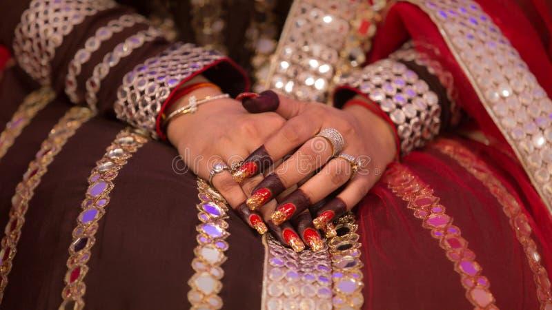 印地安新娘辅助部件 库存图片
