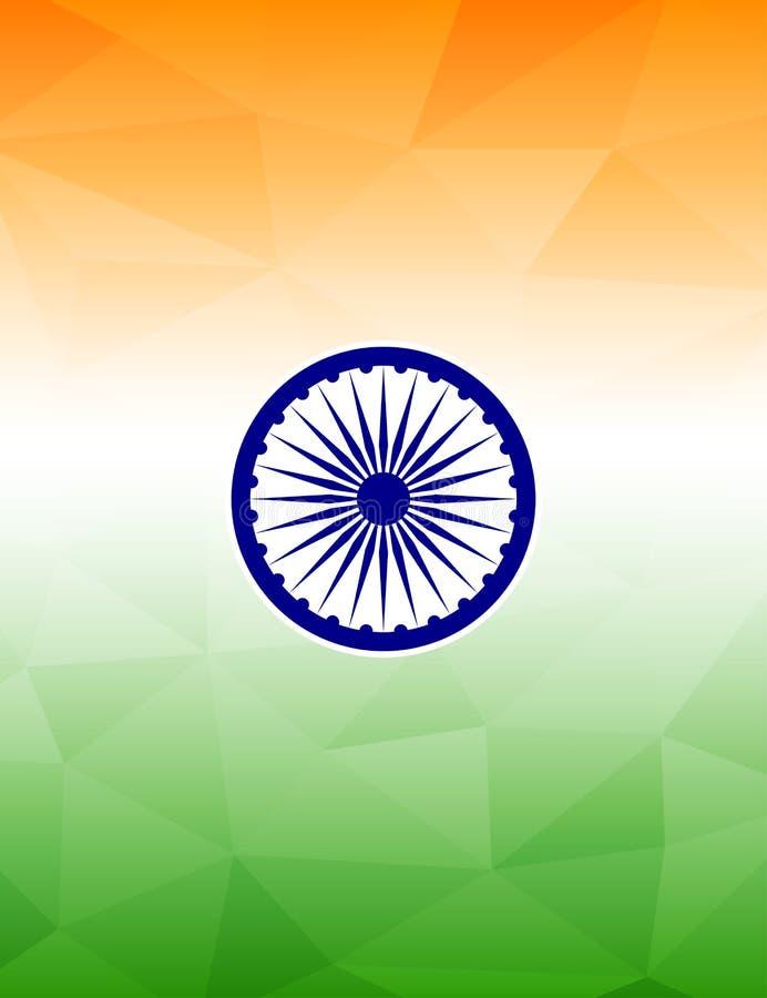 印地安旗子主题的背景 皇族释放例证