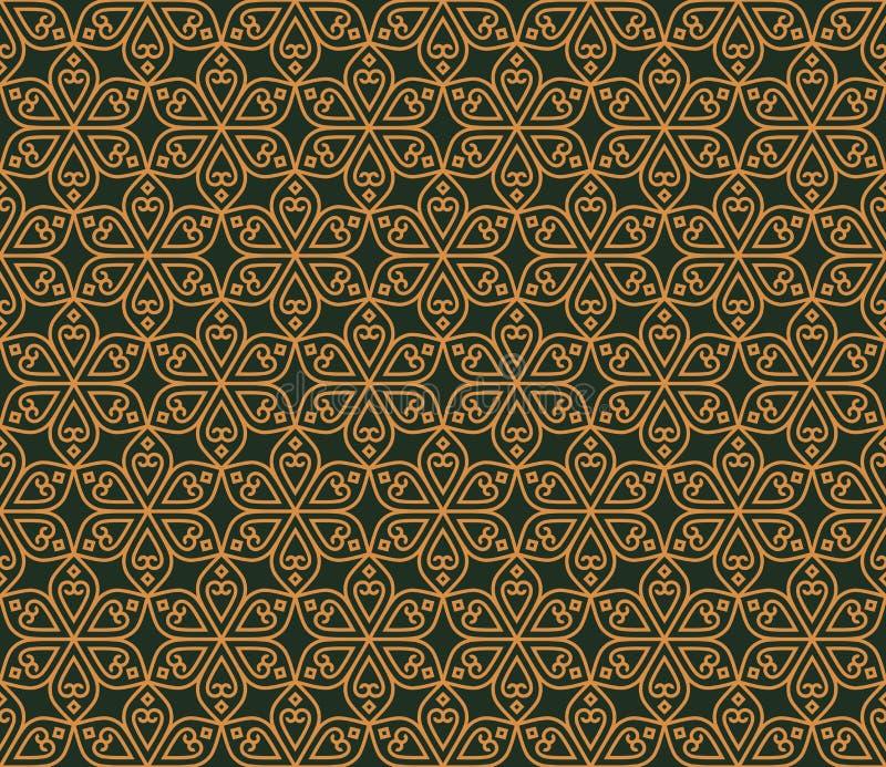 印地安无缝的抽象样式传统花 皇族释放例证