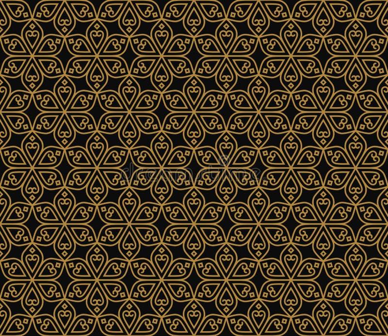 印地安无缝的抽象样式传统花 向量例证