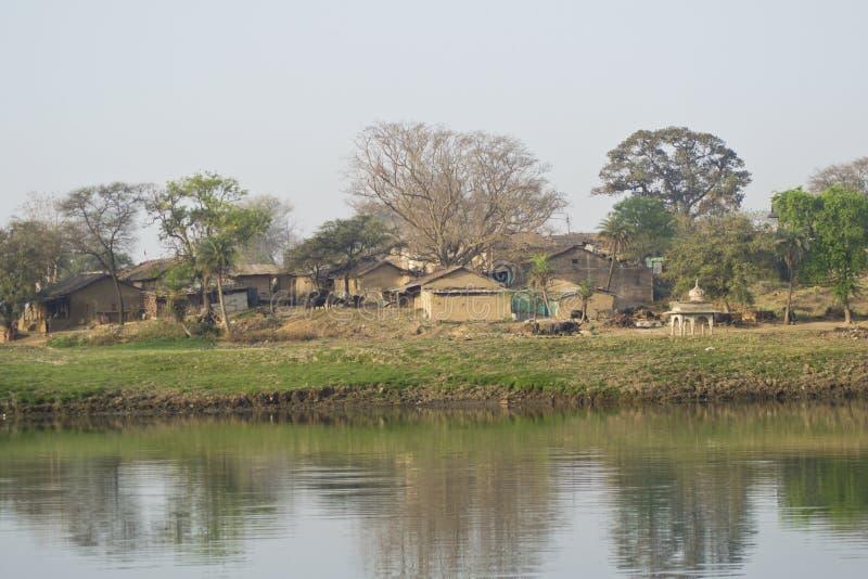 印地安村庄风景 免版税库存图片