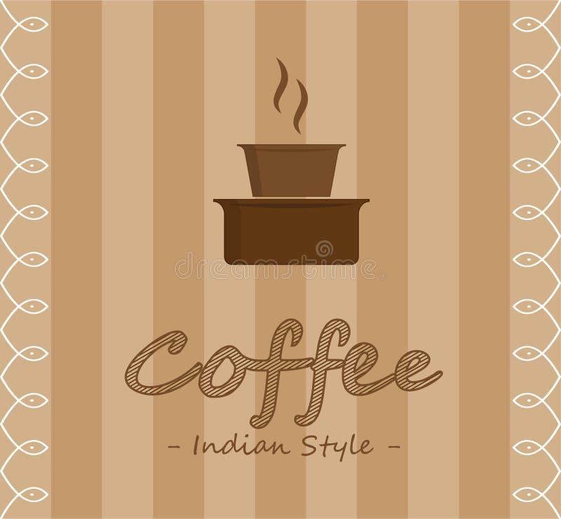 印地安样式咖啡 库存例证