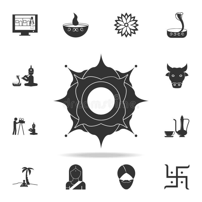 印地安样式象 详细的套印地安文化象 优质质量图形设计 其中一个网站的汇集象 向量例证