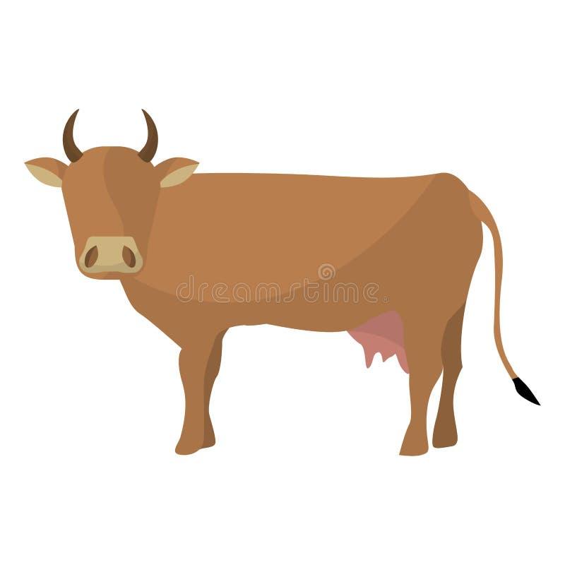 印地安棕色母牛 皇族释放例证