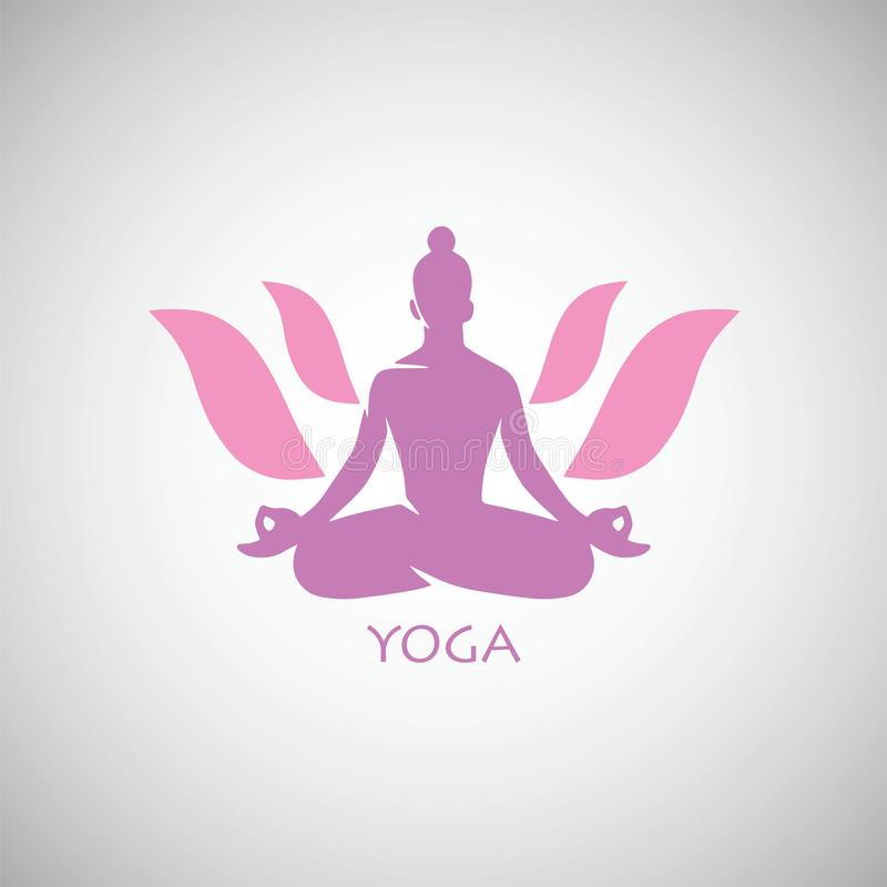 印地安瑜伽莲花商标传染媒介 皇族释放例证