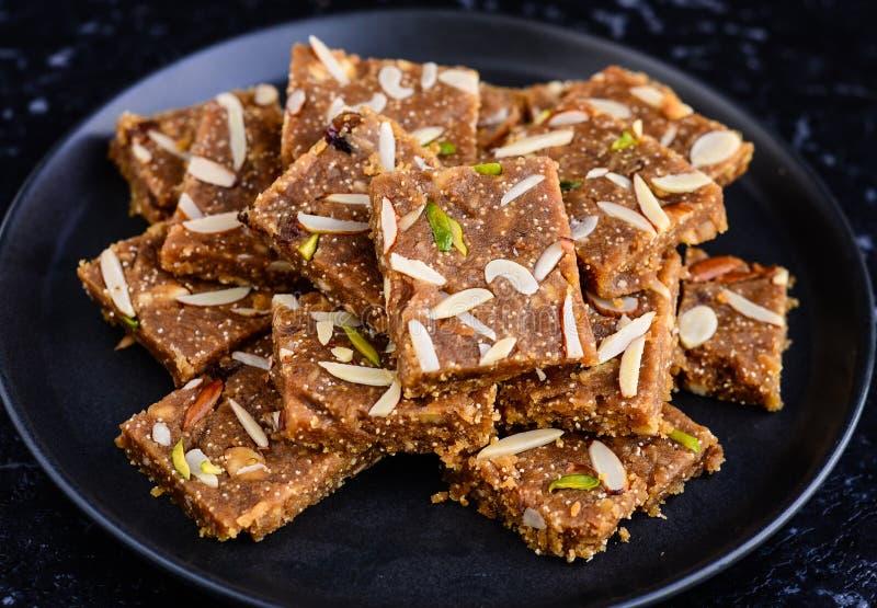 印地安甜点- Khorak Mithai 免版税库存照片