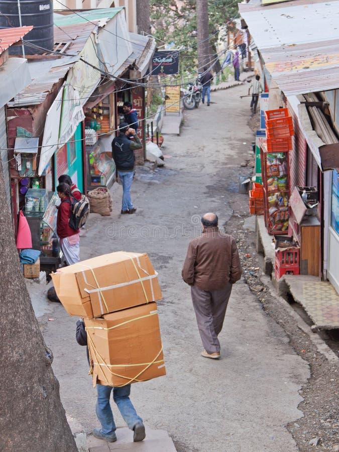 印地安的在途中的货物 免版税库存图片
