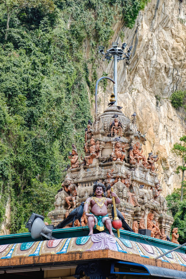 印地安神雕象在黑风洞,马来西亚 免版税库存照片