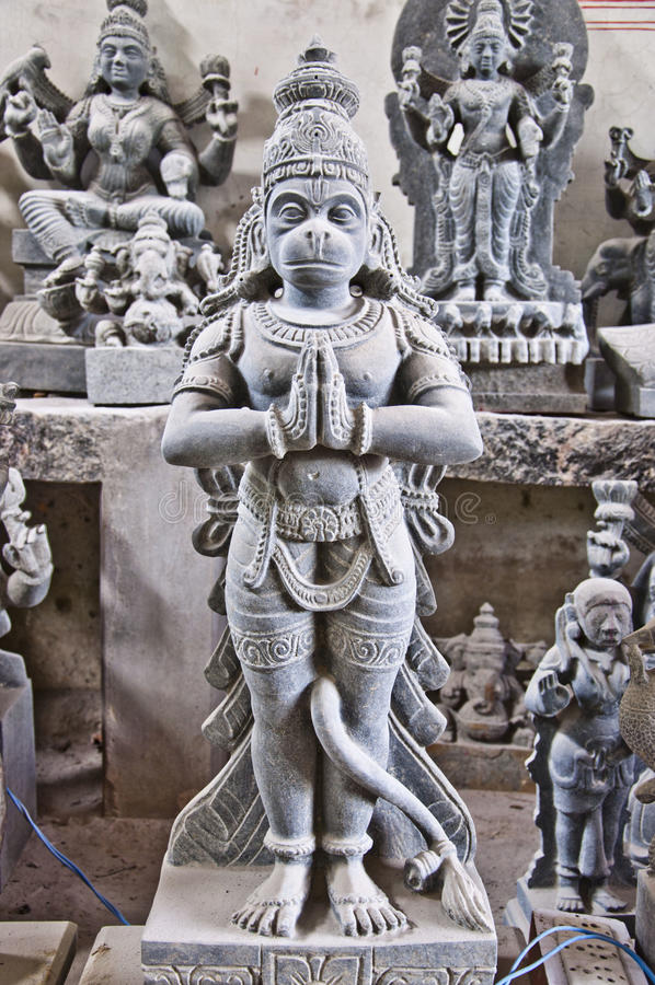 印地安神雕象 库存图片