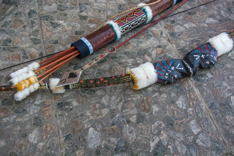 印地安箭头和弓 免版税图库摄影