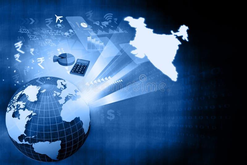 印地安经济财政增长  库存例证