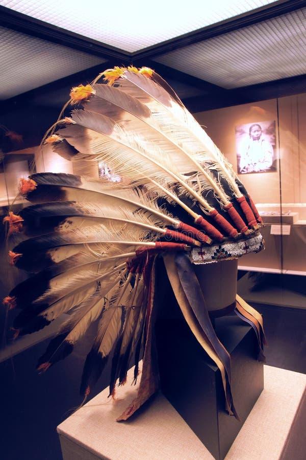 印地安老鹰羽毛盖帽 库存照片