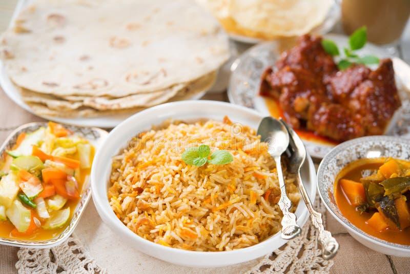 印地安膳食biryani米 免版税库存照片