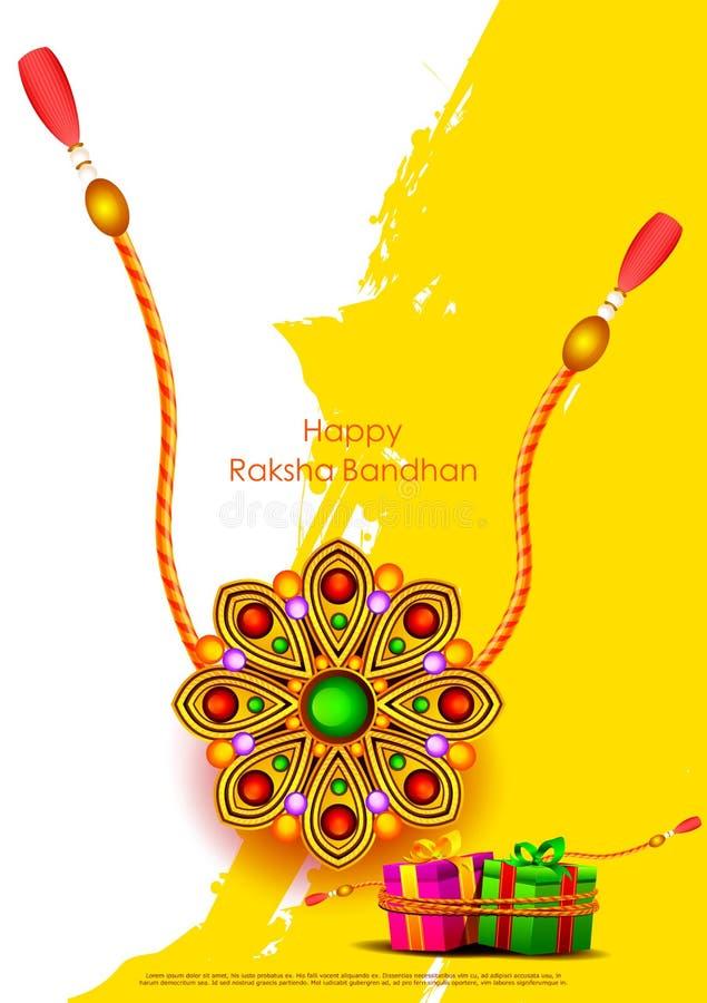 印地安节日庆祝的Raksha bandhan背景 向量例证