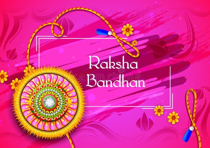 印地安节日的Raksha Bandhan装饰的rakhi 向量例证