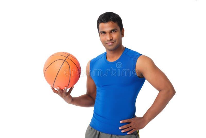 印地安蓝球运动员 库存图片