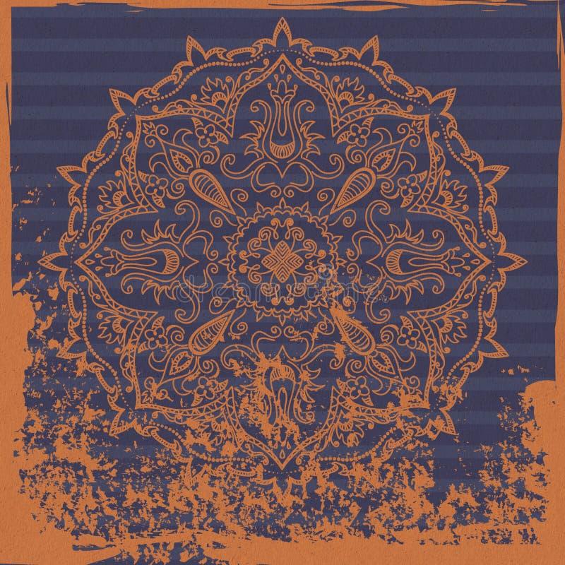 Download 印地安装饰背景 库存例证. 插画 包括有 黑暗, 蓝色, 破擦声, 模式, 五颜六色, 餐巾, 打印, 橙色 - 30337171